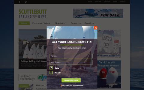 Screenshot of Home Page sailingscuttlebutt.com - Scuttlebutt Sailing News - captured Oct. 13, 2017