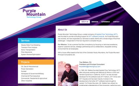 Screenshot of About Page pmtechgroup.com - About Purple Mountain Technology Group - captured Oct. 3, 2014