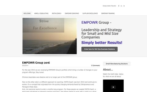 EMPOWR GroupSupplier Excellence - Welcome to the EMPOWR Group - your partner in building professional and process Strength in your business!