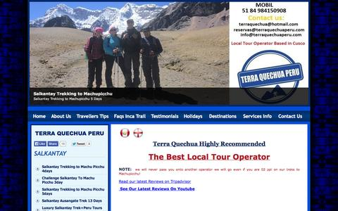 Screenshot of Testimonials Page terraquechuaperu.com - Terra Quechua Highly Recommended on Trip Advisor - captured Oct. 7, 2014