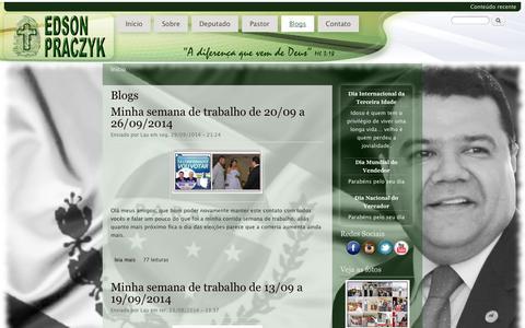 Screenshot of Blog pastoredson.com.br - Blogs | Dep. Pr. Edson Praczyk - captured Oct. 1, 2014