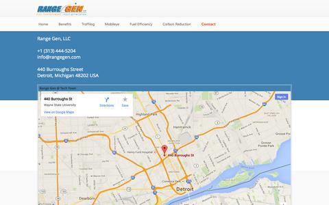Screenshot of Contact Page rangegen.com - Contact - Range Gen, LLC - captured Oct. 27, 2014