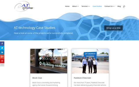 Screenshot of Case Studies Page attechnology.com - Case Studies | AT technology, Inc. - captured Oct. 2, 2018