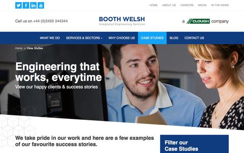 Screenshot of Case Studies Page boothwelsh.co.uk - Case Studies Archive - Booth Welsh - captured June 2, 2017