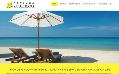 Screenshot of Home Page optimumlifefocus.com.au - Optimum LifeFocus Financial Planning – Live life to the full - captured Aug. 15, 2016