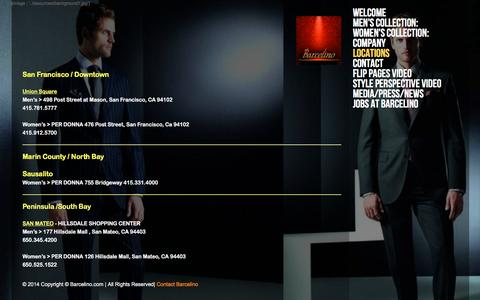 Screenshot of Locations Page barcelino.com - Locations - captured Dec. 30, 2015