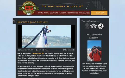 Screenshot of Press Page beargryllssurvivalacademy.com - Bear Grylls Survival Academy - captured Sept. 22, 2014