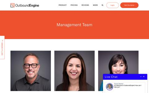 Screenshot of Team Page outboundengine.com - OutboundEngine Team - OutboundEngine - captured July 13, 2018