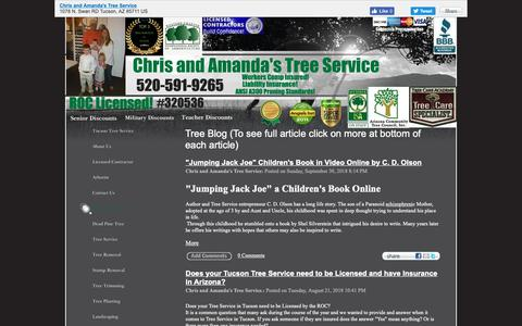 Screenshot of Blog treeremovalservicetucson.com - Tree Blog (To see full article click on more at bottom of each article) - captured Oct. 20, 2018