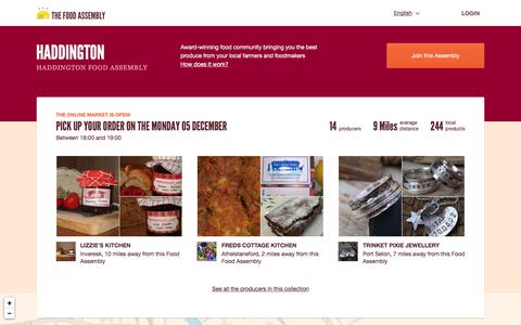 Screenshot of Signup Page thefoodassembly.com - Haddington Food Assembly - The Food Assembly - captured Dec. 3, 2016