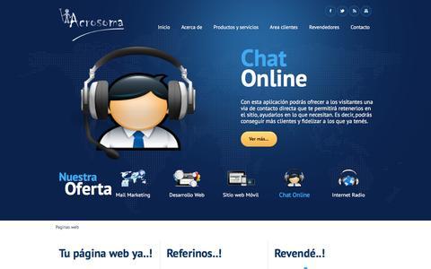 Screenshot of Site Map Page acrosoma.net - Páginas web, diseño, ecommerce, comercio electrónico - Acrosoma.net - captured Feb. 5, 2016
