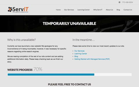 Screenshot of About Page Terms Page servit.net - Welcome to ServIT, Inc. | Managed IT Services - captured Sept. 27, 2016