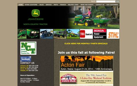 Screenshot of Home Page northcountrytractor.com - North Country Tractor, Inc. - Home - North Country Tractor Inc. - 1-603-226-2188 - Concord   Sanford   Dover   Ossipee - captured Oct. 6, 2014
