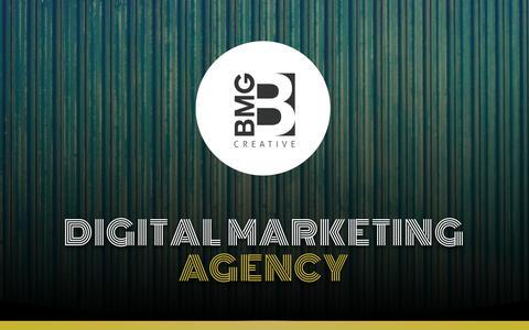 Screenshot of Home Page bmgcreative.com - Digital marketing agency Fort Lauderdale, South Florida | Florida web design agency - captured Aug. 17, 2019