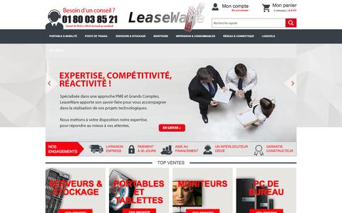 Screenshot of Home Page leaseware.fr - Commerce - captured May 11, 2017
