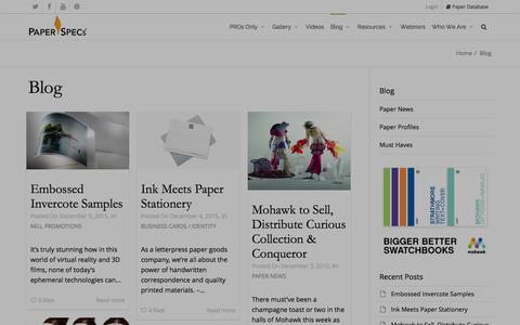 Screenshot of Blog paperspecs.com - Blog - PaperSpecs - captured Dec. 7, 2015