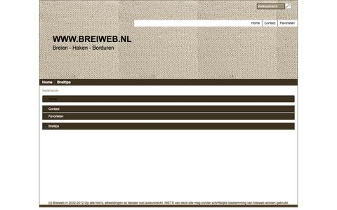 Screenshot of Site Map Page Menu Page breiweb.nl - Map - captured May 28, 2016