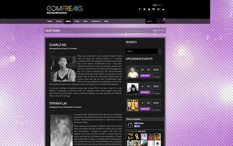 Screenshot of Team Page edm-freaks.com - Our Team | EDMfreaks - captured Nov. 1, 2014