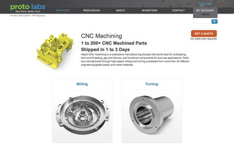 CNC Machining. Rapid CNC Services at Proto Labs.