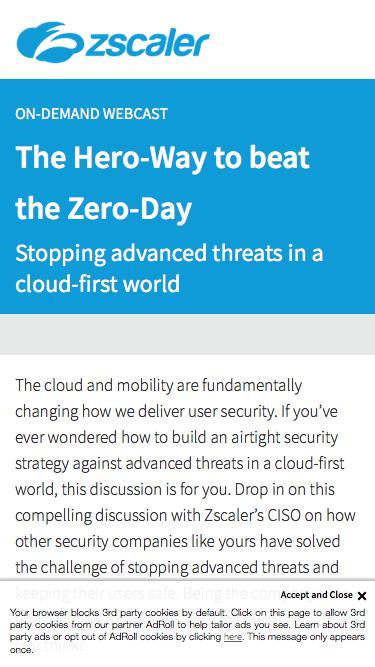 The Hero-Way to beat the Zero-Day   Zscaler