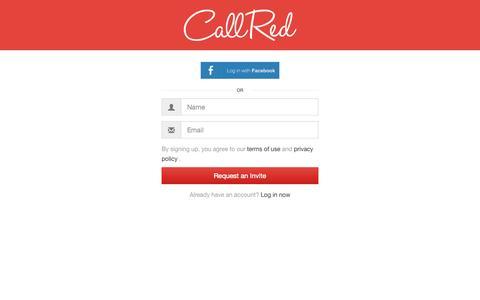 Screenshot of Signup Page callred.com captured Sept. 27, 2014