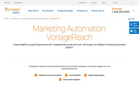 Marketing Automation with VonageReach | Vonage Business