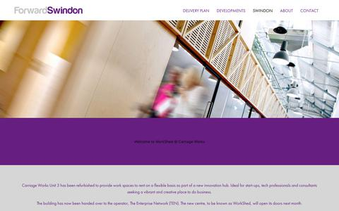 Screenshot of Press Page forwardswindon.co.uk - News - Forward Swindon - captured Aug. 20, 2018