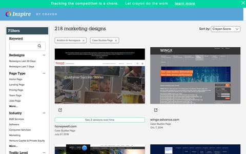 Screenshot of Case Studies Page crayon.co - Aviation & Aerospace Case Studies Pages | Website Inspiration and Examples | Crayon - captured Aug. 14, 2018