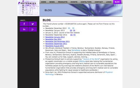 Screenshot of Blog proteomicsconsult.com - BLOG - Proteomics Consult - captured Sept. 30, 2014