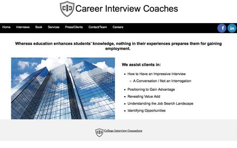 Screenshot of Support Page collegeinterviewcounselors.com - Career - Support - College Interview Counselors - captured Nov. 9, 2016
