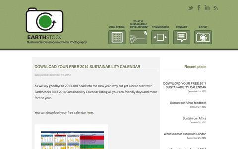Screenshot of Blog earthstock.co.za - Latest on EarthStock - EarthStock - captured Sept. 27, 2014
