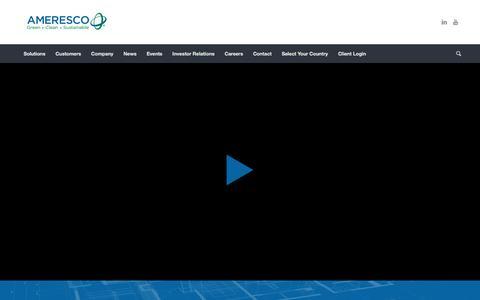 Ameresco | Renewable Energy, Energy Efficiency and Management, ESPCs