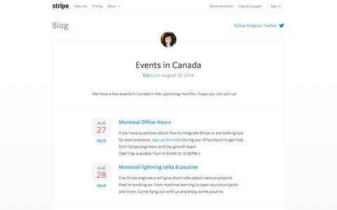 Screenshot of Blog stripe.com - Stripe Blog - captured Sept. 17, 2014