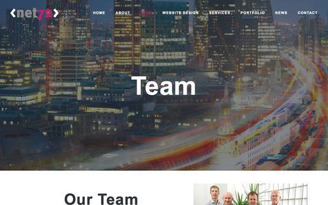 Screenshot of Team Page net72.co.uk - Team - net72 - captured Nov. 22, 2018