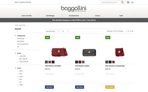 RFID Bags, Purses, Wallets, & Travel Accessories - Baggallini