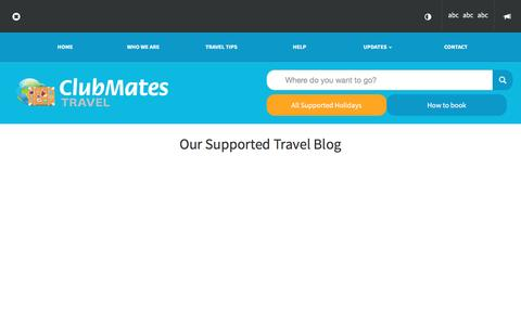 Screenshot of Blog clubmatestravel.com - Clubmates Travel - Supported Travel Blog - captured May 18, 2017