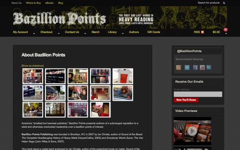 Screenshot of About Page bazillionpoints.com - About Bazillion Points Books | Bazillion Points - captured Sept. 30, 2014
