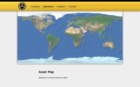 Screenshot of Maps & Directions Page galacticaoil.com - Asset Map | Galactica Oil - captured Sept. 30, 2014