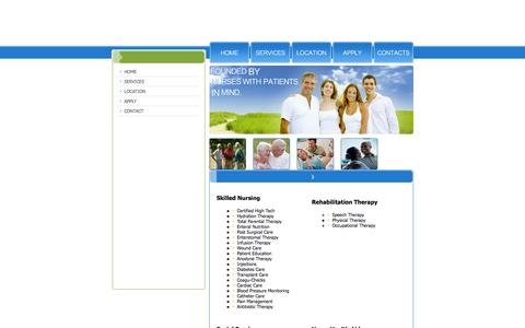 Screenshot of Services Page compassionate-caring.com - Compassionate Caring Home Care - captured Oct. 2, 2014