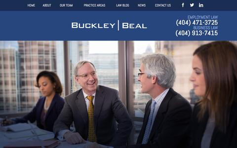 Screenshot of Home Page buckleybeal.com - Atlanta Employment & Business Litigation | Buckley Beal - captured Feb. 8, 2016