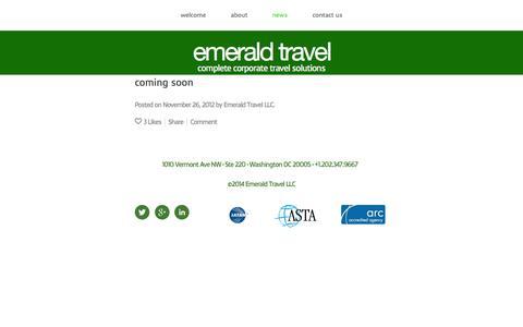 Screenshot of Press Page travel-emerald.com - news — emerald travel - captured Oct. 2, 2014