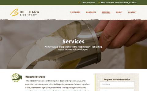 Screenshot of Services Page billbarr.com - Bill Barr | Services - Bill Barr & Company - captured Oct. 10, 2017