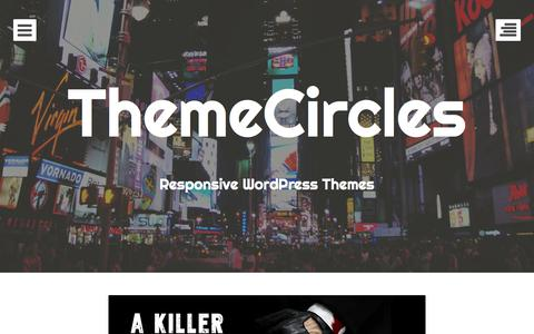 Screenshot of Home Page themecircles.com - ThemeCircles: Beautiful WordPress Responsive Themes - captured Sept. 23, 2014
