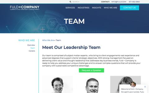 Screenshot of Team Page fuld.com - Team at Fuld + Company - captured July 18, 2019