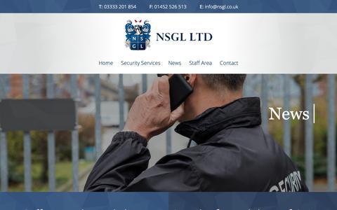 Screenshot of Press Page nsgl.co.uk - NSGL Security News - NSGL Security - captured Oct. 18, 2018