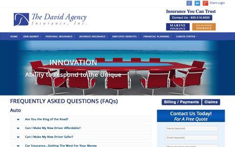 Screenshot of FAQ Page thedavidagency.com - FAQ - The David Agency - The David Agency - captured Nov. 4, 2014
