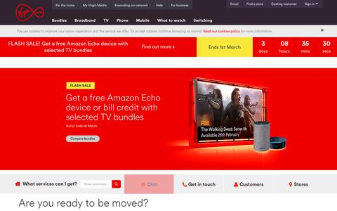 Screenshot of Home Page virginmedia.com - Virgin Media - Official Site | Virgin Media - captured Feb. 26, 2018