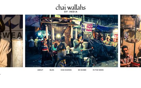 Screenshot of Home Page chaiwallahsofindia.com - Chai Wallahs of India - captured June 18, 2016