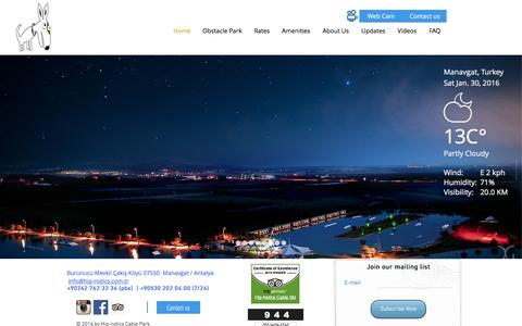 Screenshot of Home Page hip-notics.com - Hip-notics cable park - captured Jan. 30, 2016