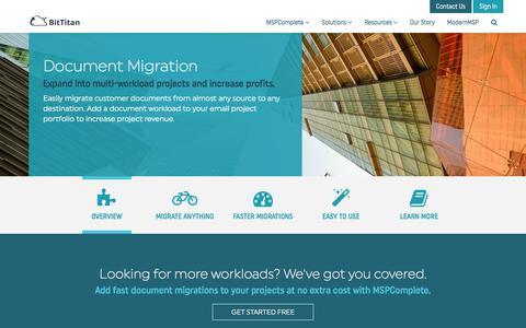 Document Migration - BitTitan